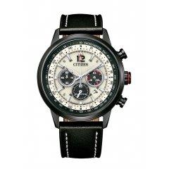 Reloj Citizen Cronógrafo CA4476-19X acero y piel