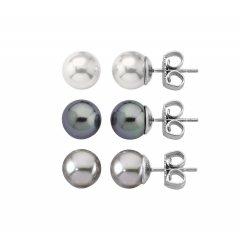 Pack de 3 pendientes perla Majorica 13185.21.2.000.010.1 Mujer Plata