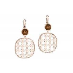Pendiente Rebecca B70ORP09 mujer acero y bronce diamantado