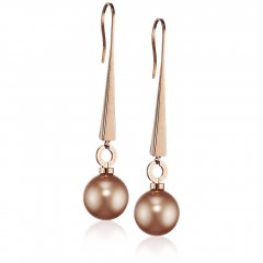 Pendiente Rebecca BTRORR05 mujer bronce perla