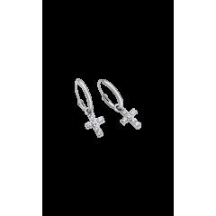 Pendientes aros  LOTUS silver LP1243-4/1cruz circonita