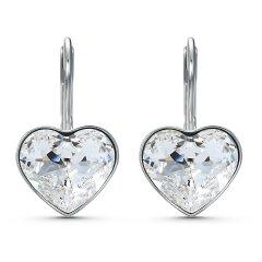 Pendientes Bella Heart SWAROVSKI 5515191, blanco, baño de rodio