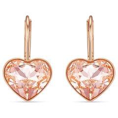 Pendientes Bella Heart Swarovski 5515192 rosa