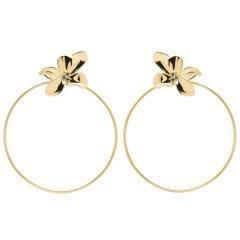 Pendientes Blossom P D PAOLA AR01-182-U Mujer plata en dorado circonita.