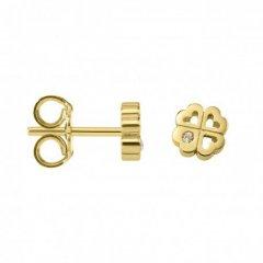 Pendientes botón Argyor 8307203 oro diamante
