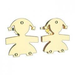 Pendientes Botón leBebé gioielli LBB052 Mujer Oro amarillo Niña