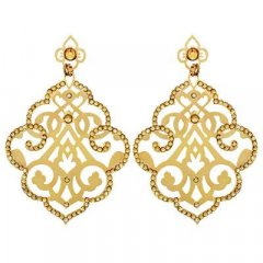Pendientes Colgante Stroili 1509596 Mujer Metal Dorado