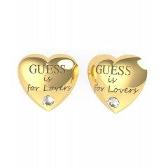 Pendientes corazón GUESS UBE70105 acero dorados