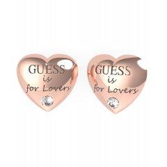Pendientes corazón GUESS UBE70106 acero oro rosa