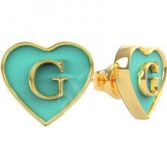Pendientes corazón Guess UBE70254 IP dorado mujer