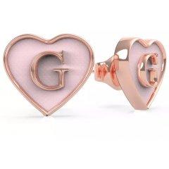 Pendientes corazón Guess UBE70255 IP oro rosa
