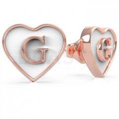 Pendientes corazón Guess UBE70258 IP oro rosa