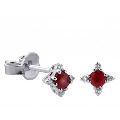 Pendientes Davite & Delucchi BB008536RBS mujer oro blanco Diamantes y rubí