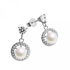 Pendientes Diamonfire 6214561111 Mujer Plata Circonitas y perla