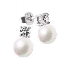 Pendientes Diamonfire 6216881111 Mujer Plata Circonitas y perla
