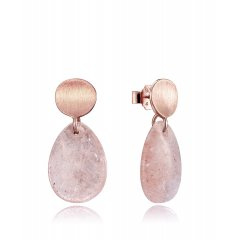 Pendientes Elegant Viceroy 3040E100-47 mujer plata cuarzo rosa