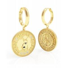 Pendientes GUESS COIN UBE79156 acero dorado