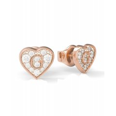 Pendientes GUESS G SHINE UBE79074 acero rosado