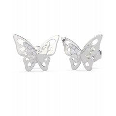 Pendientes mariposa GUESS UBE70184 mujer plateado