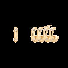 Pendientes P DE PAOLA AR01-108-U Mujer Plata Baño Oro