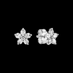 Pendientes Pandora Copos de Nieve 299239C01 mujer plata