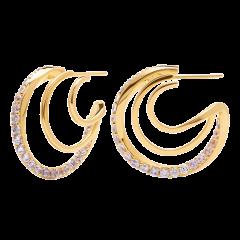Pendientes ROYAL P D PAOLA AR01-248-U Mujer plata IP dorado