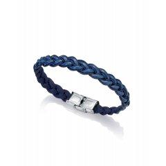 Pulsera azul Viceroy 75182P01013 hombre piel y acero