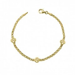 Pulsera Flor ARGYOR 4A8307203Z niña oro diamantes