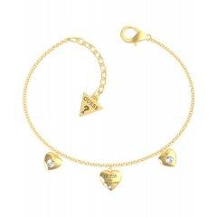 Pulsera GUESS corazones UBB70038-S acero dorado