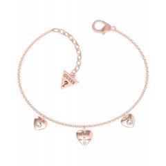Pulsera GUESS corazones UBB70039-S acero oro rosa