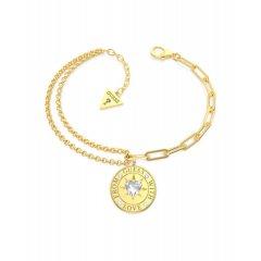 Pulsera GUESS UBB70001-S mujer acero dorado