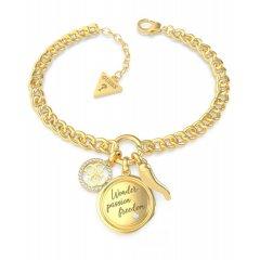 Pulsera GUESS UBB70056-S mujer acero dorado