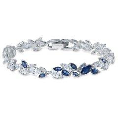Pulsera Louison SWAROVSKI 5536548, azul, baño de rodio