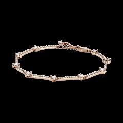 Pulsera Pandora de líneas de pavé brillante 589217C01-16 mujer