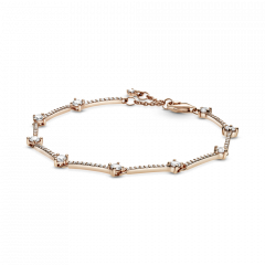 Pulsera Pandora de líneas de pavé brillante 589217C01-18 mujer