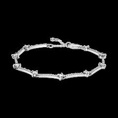 Pulsera Pandora de líneas de pavé brillante 599217C02-18 mujer