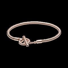 Pulsera Pandora Moments Cadena de Serpiente 589087C00-18 Rosé