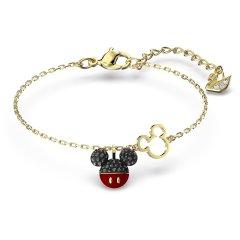 Pulsera Swarovski Mickey 5566689 mujer baño tono oro