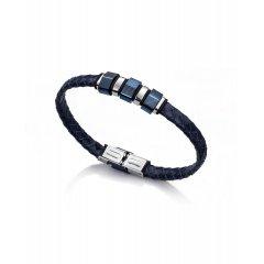 Pulsera Viceroy Fashion 6304P09013 Hombre Piel y acero Azul