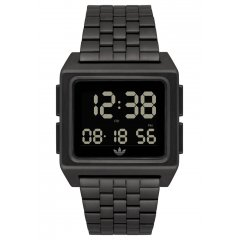 Reloj adidas Archive_M1 All Black Z01001-00 unisex negro