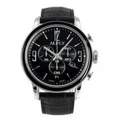 Reloj Alfex 5698-849 Hombre Negro Cronógrafo Cocodrilo