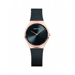 Reloj Bering 12131-162 mujer negro acero Ip rosa