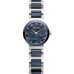 Reloj  BERING Cerámica azul 10725-787 mujer plateado