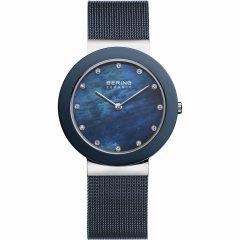 Reloj  BERING Cerámica azul 11435-387 mujer plateado