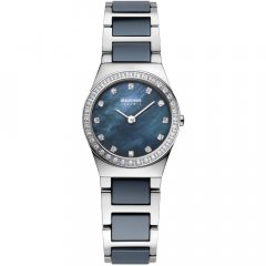 Reloj  BERING Cerámica azul 32426-707 mujer plateado
