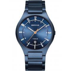 Reloj Bering Titanium 11739-797 hombre azul mate