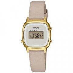 Reloj Casio Vintage LA670WEFL-9EF mujer cuero dorado