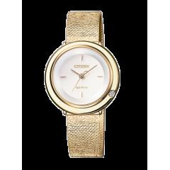 Reloj Citizen acero EM0643-84X ambiluna diamante