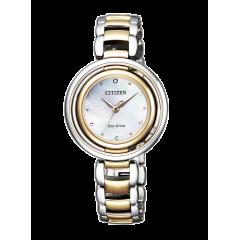Reloj Citizen acero EM0666-89D Lady 0331 diamante