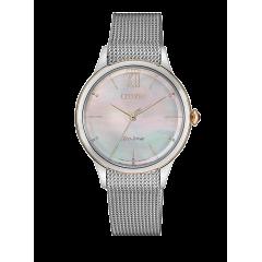 Reloj Citizen acero EM0816-88Y Lady 078 zafiro